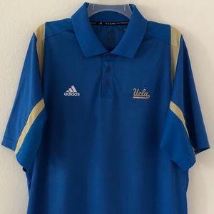 UCLA Bruins Adidas ClimaCool Blue Polo Size Large
